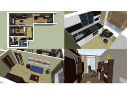 эскизная визуализация квартиры