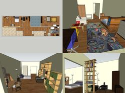 эскизная расстановка предметов мебели