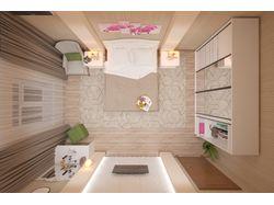 Дизайн спальня 22.2 кв.м