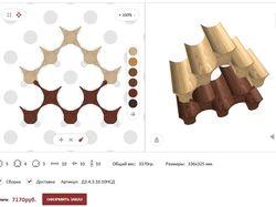 Конструктор винных стоек 3D (canvas, Three.js)