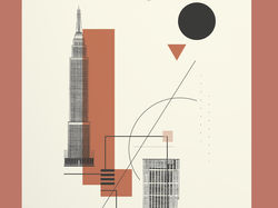 Плакат, посвященный конструктивизму