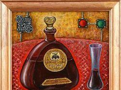 Бутылочная фантазия № 4433 (холст, масло)
