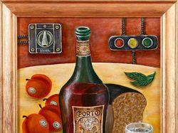 Бутылочная фантазия № 4433(холст, масло)