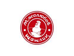 Логотип шашлычной Мясолюбов