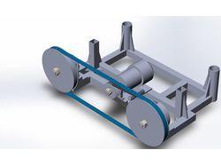 Модель пильной рамы для лентопилочного станка