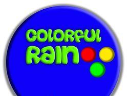 Sphere colorful rain