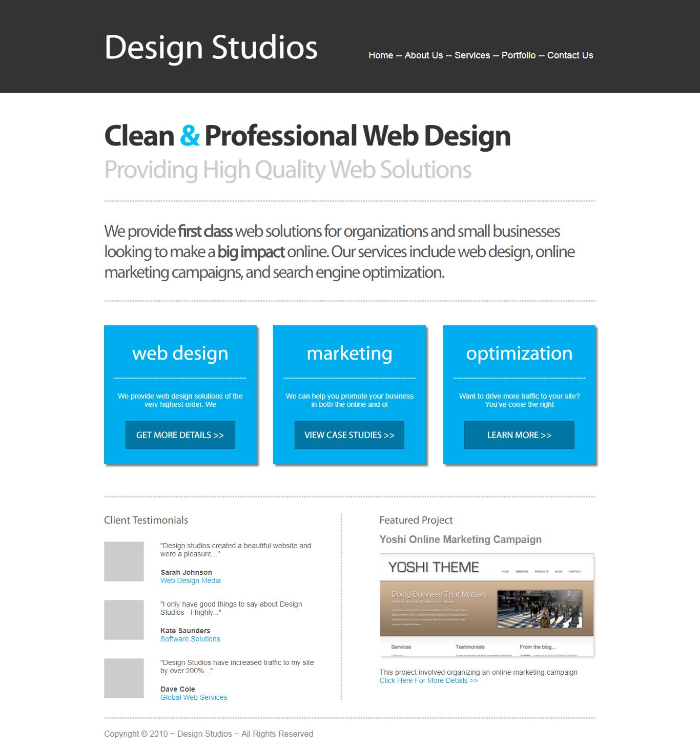 Clean Business Website