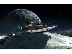 3D модель космического коробля для онлайн игры.