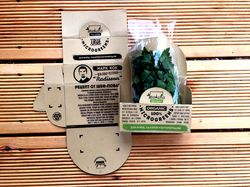 Экологичная упаковка зелени с рецептом от шефа