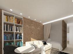 Дизайн совмещенной гостиной со спальней