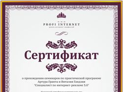 Cпециалист в интернет-рекл Рекламной Сети Яндекса