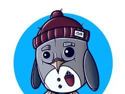 Пингвинёнок в шапке