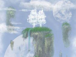 """Иллюстрация """"Aerial islands"""""""
