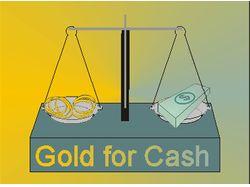 Логотип для скупки золота GOLD FOR CASH
