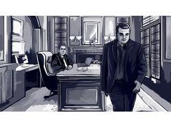 Illustrations for comics
