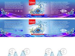 Дизайн этикетки для воды