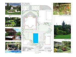 Эскиз предложение по ландшафтному дизайну №1