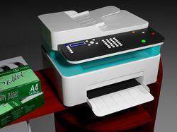 Принтер - 3D-модель и визуализация