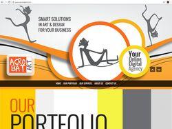 Адаптивный дизайн для веб сайта онлайн агентства