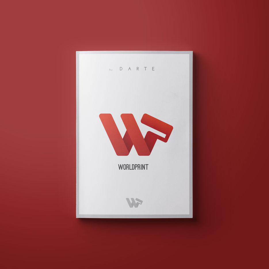 Логотип студии принта на футболки и т.д. WP - World Print