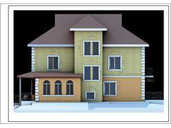 Эскизный проект частного жилого дома.
