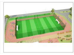 Эскизный проект спортивной зоны при школе