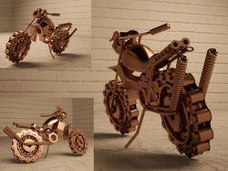 Моделирование модели статуэтки мотоцикла