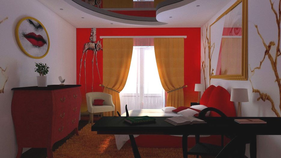 Интерьер спальни по творчеству Сальвадора Дали