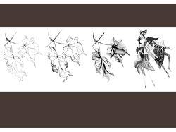 Создание дизайна костюма на основе растения
