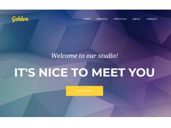 "Landing page ""Golden"""