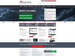Сайт для компании Surge Funds