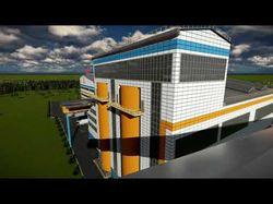 Моделирование, визуализация и видео облет завода