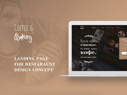 "Landing page ""Coffee and Bakery"""