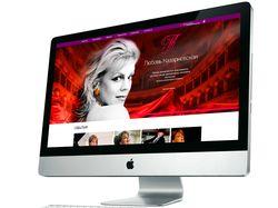 Сайт-визитка для оперной певицы Л. Казарновской