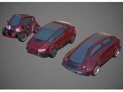 sci-fi/cyberpunk cars
