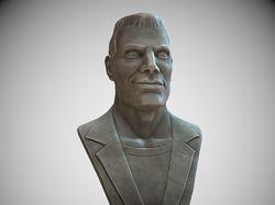 Stylized male bust