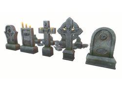 Stylized gravestones