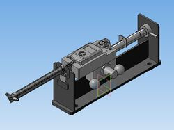 Модель приспособления для тарировки длинных пружин