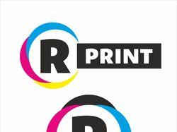 Логотип для копировального центра r-print