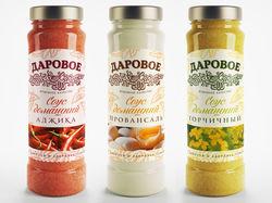 Дизайн упаковки и этикетки для соусов