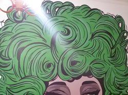 Рисунок на стене в стиле поп-арт