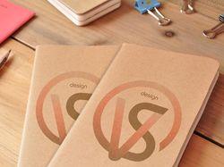 собственный стиль, логотип, визитки, блокнот