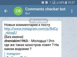 Телеграм бот для поиска комментов instagram