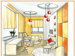 Составление эскизов интерьеров для домов и квартир
