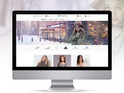 Дизайн главной страницы интернет-магазина