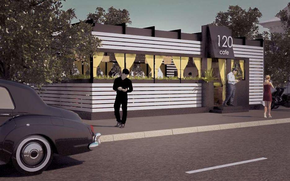 """Визуализация экстерьера кафе """"120"""""""