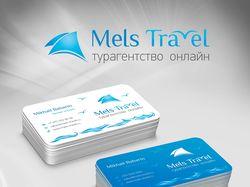 """Фирменный стиль """"Mels Travel"""""""