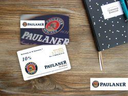Логотип и визитка Пауланер