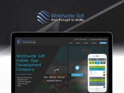 "Landing page для компании ""Worldwide Soft"""