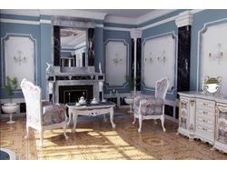 Классическая гостиная в стиле рококо.